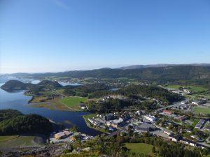 Utsikt over Årnes